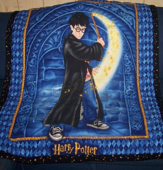 Handmade Harry Potter Quilt Blanket or Throw