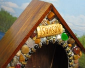 Bird House Dog Theme mosaic garden stones