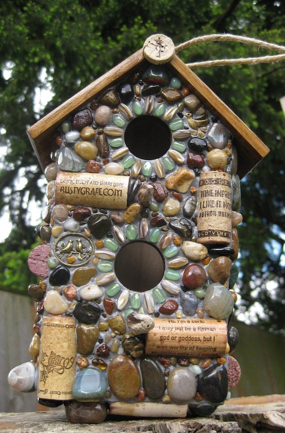 Stone birdhouse by winestonebirdhouses on etsy