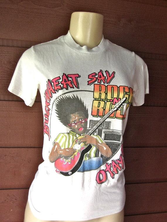 Vintage 1980's BUCKWHEAT lilrascals Rock n Roll T Shirt 50 50 Size XS