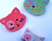 White Knitted Kitty Brooch