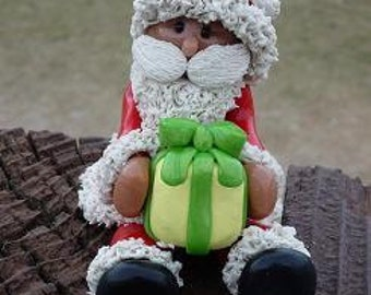 Santa with Christmas Present decoration