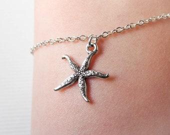 Starfish Bracelet - Beach Jewelry - Nautical - Sea Star Bracelet