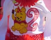 Embroidered shirt - Winne the Pooh Birthday shirt