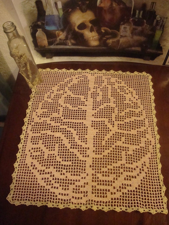 Filet Crochet Brain Doily