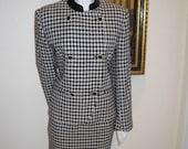 Vintage Jones of New York - Houndstooth - Wool and Velvet