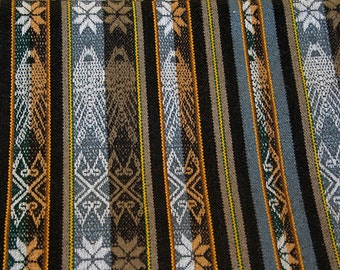 """2 yds Ethnic Fabric Ecuador 54"""" Finely woven with fringe - 2 yard cuts"""