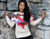 Tribal Triangle - Navajo Print Knit Sweater