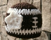 Girl's football hat with white flower