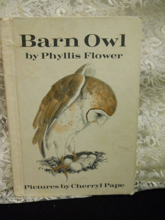 Vintage Children's Book Barn Owl by Philis Flower Pictures by Cherryl Pape 1978