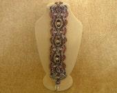 Micro Marame Chocolate Lavender Victorian Bracelet