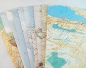 Upcycled Map Envelopes with Sticker Seals