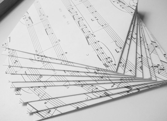 Envelopes Upcycled from Piano Sheet Music
