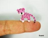 Micro Crochet Baby Tiger - Mini Tiny Dollhouse Miniature Animals - Made To Order
