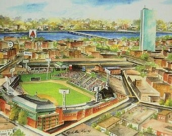 "Fenway Park, Boston 5""x7"" Matted Print"