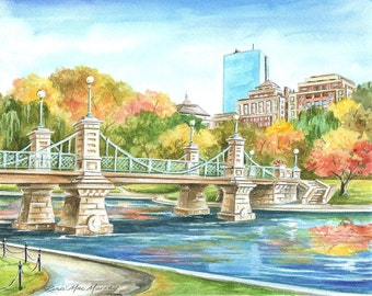 Boson Public Garden in the Fall, by Renee' MacMurray