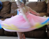 Pettiskirt Dress - Pink with rainbow accent