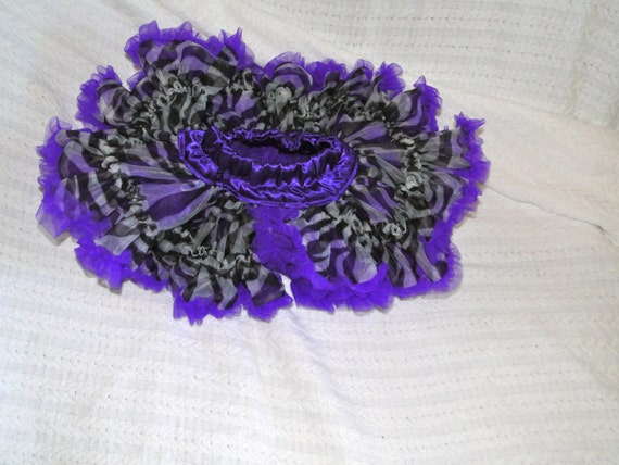 Pettiskirt - Purple and Zebra