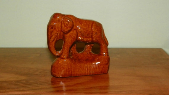 Bybee Pottery Elephant Signed Ink Stamp / Kentucky Pottery