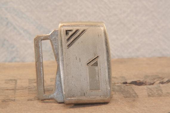 Art Deco - Mid Century - 1920s - Silver Plated - vintage belt buckle