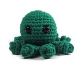 Octopus Stuffed Animal - Green - Amigurumi