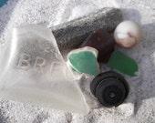 Beach Floatsam & Jetsam 2: Collage/Jewelry Sea Glass, Stone, Pottery, Button and Marble