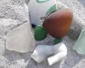 Beach Floatsam & Jetsam 3: Collage/Jewelry Sea Glass, Stone, Pottery, Porcelain Doll Torso