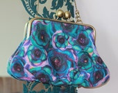 Clip Top Clutch Bag (large) Vibrant Rosa design