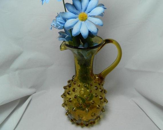 Vintage Fenton Spiked Hobnail Pitcher Vase