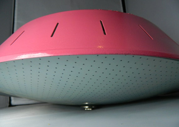 Mid Century Pink 1950's Ceiling Light Fixture