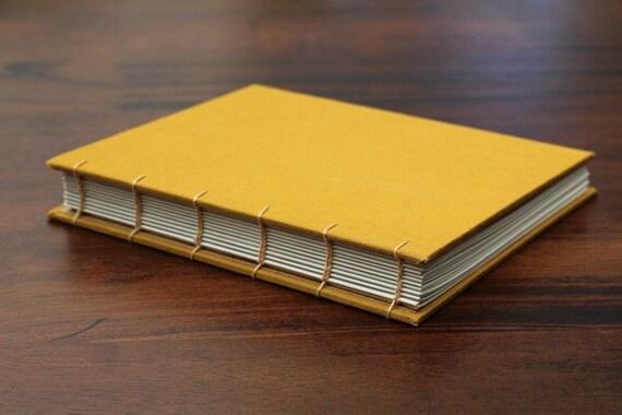 Handmade Coptic Stitch Mustard Yellow Journal