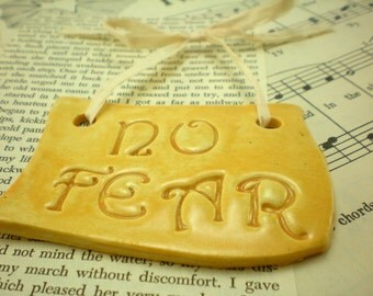 50% off: inspirational wall plaque, NO FEAR