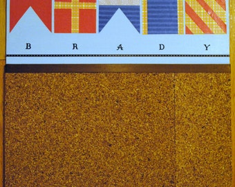 Nautical Flag Custom and Personalized 16X20 inches Cork Board Organizer