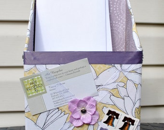 Made to Order Up Cycled Mail Organizer with Memory Board Ribbon