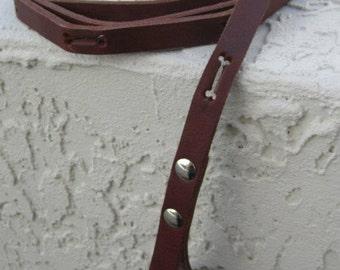 Bones Leather Leash