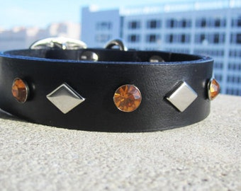 "Leather Dog Collar 11-14"" Small"