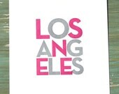 LA Print Pink & Grey