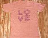 LOVE Eco Orange Tee Shirt