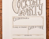 Cocktail Party Fill-In Invitation