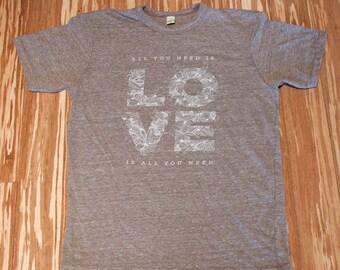 LOVE Eco Brown Tee Shirt
