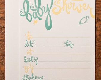 Baby Shower Fill-In Invitation