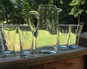 Personalized Pitcher and Glass Set
