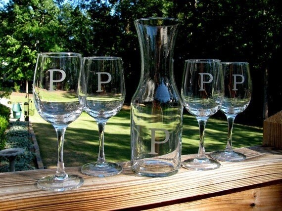 Personalized Wine Carafe and Glass Set