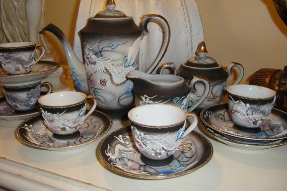 Vintage Dragonware Tea Set Fairyland China By Edithandevelyn