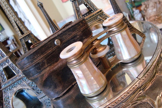 Antique Paris French Opera Glasses Marchand