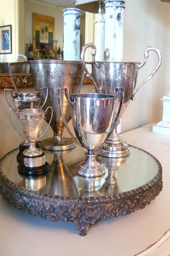 Rare Antique FRENCH Trophy Cup Silverplate