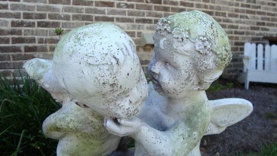 Kissing Cherubs Statue, Garden, Patio