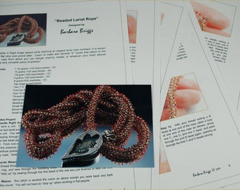"Tutorial for the ""Beaded Lariat Rope"" necklace"
