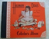 1940's Vintage Hallmark Paper Dolls Collectors Album with 5 Dolls from the Land of Make Believe
