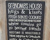 GRANDMA'S HOUSE Subway Art decor wall hanging  -  wood home decor Board